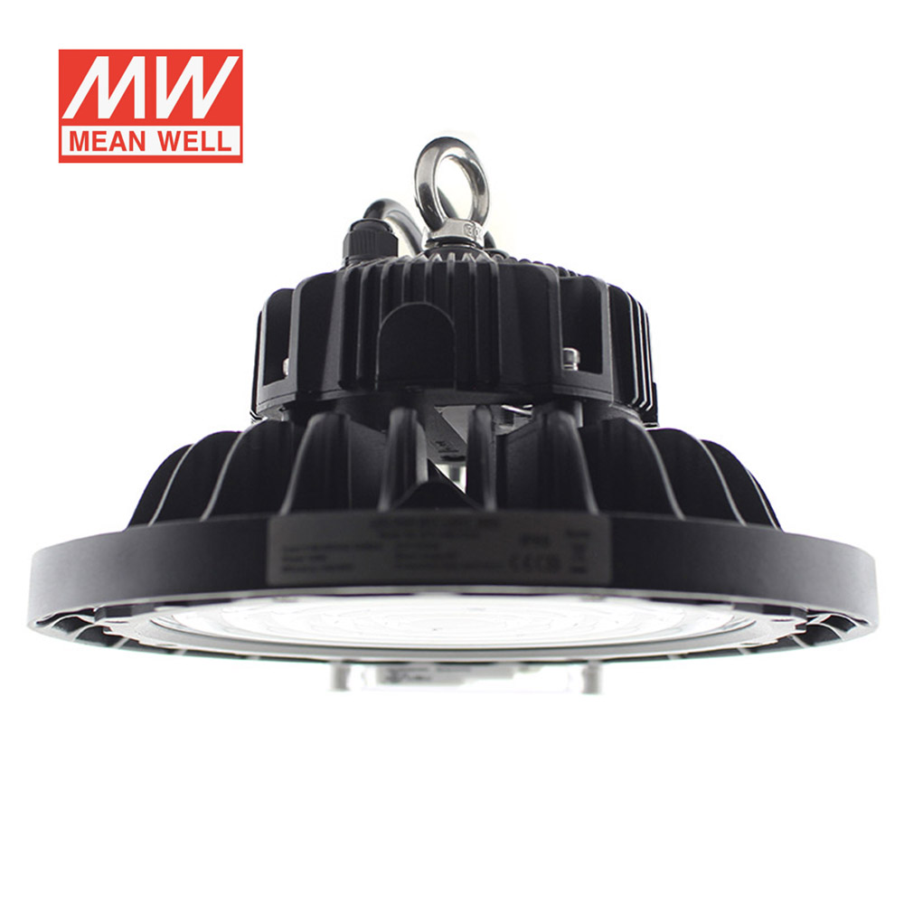 Campana Led industrial UFO 150W NICHIA + MeanWell driver 0-10V regulable, Blanco frío, Regulable